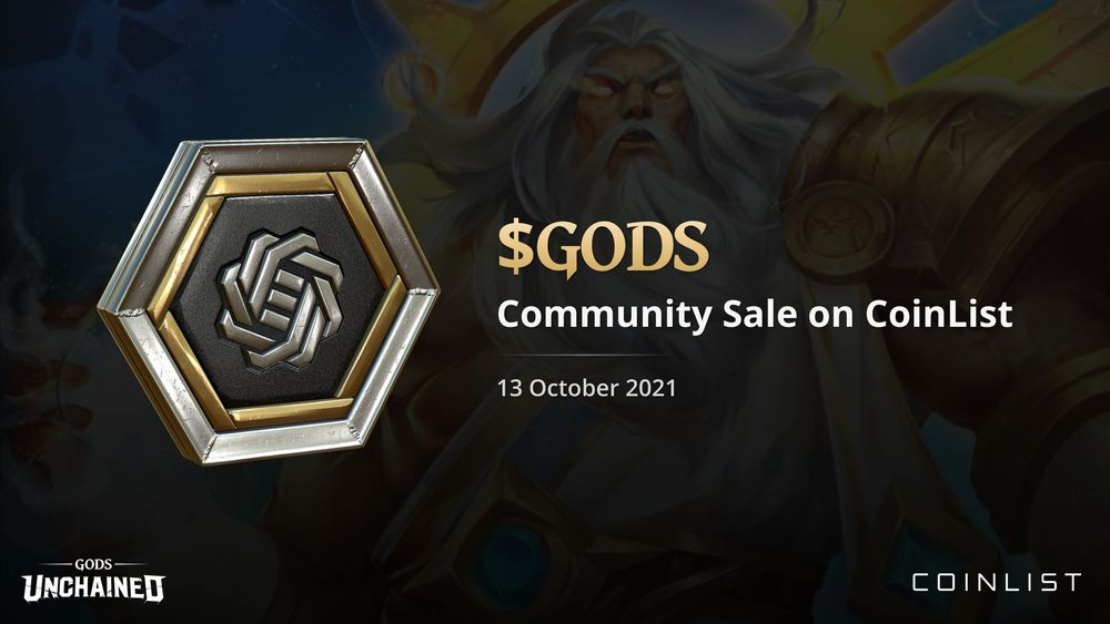 CoinList Announces Gods Unchained Project GODS ICO Sale October 14th