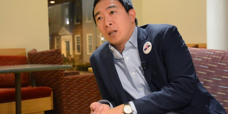 Andrew Yang program, BTC, Bitcoin, support, party